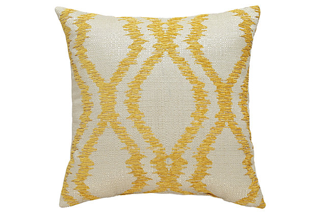 Estelle Pillow by Ashley HomeStore, Yellow, Polyester (100 %)