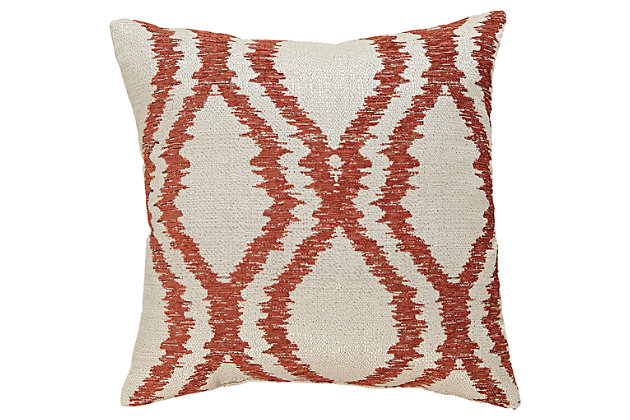 Orange Estelle Pillow by Ashley HomeStore, Polyester (100 %)