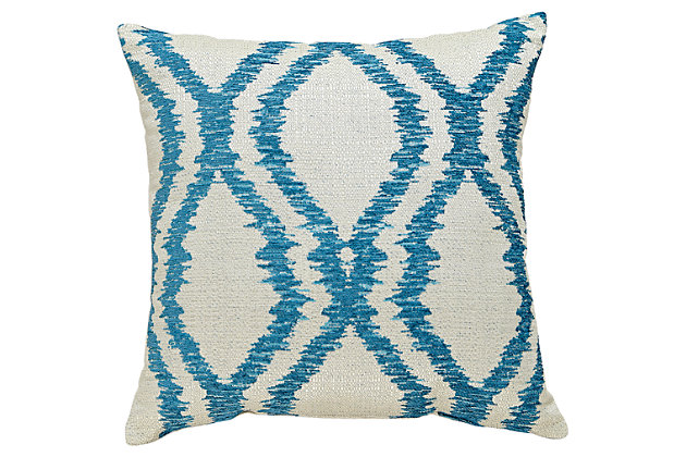 Estelle Pillow by Ashley HomeStore, Turquoise, Polyester (100 %)