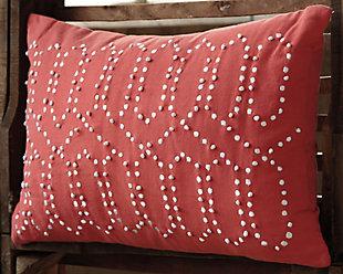 Simsboro Pillow, Coral, rollover