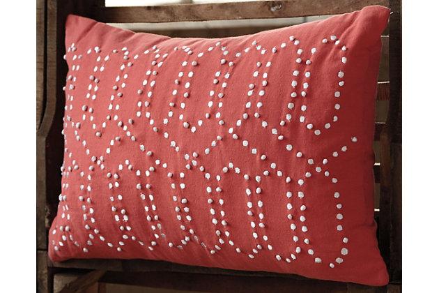 Simsboro Pillow by Ashley HomeStore, Orange, Cotton (100 %)