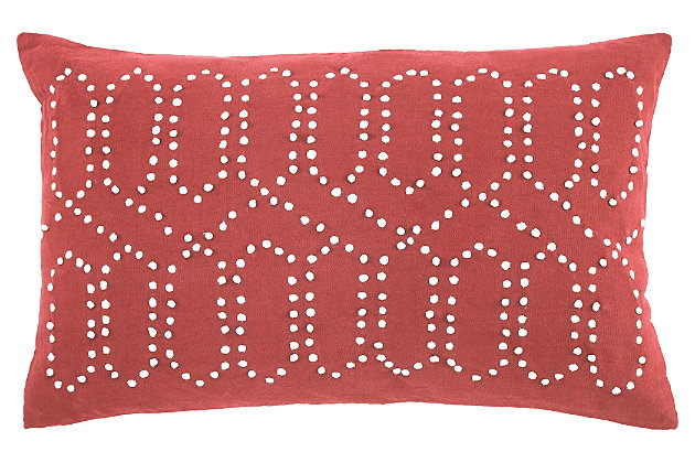 Simsboro Pillow, Coral, large