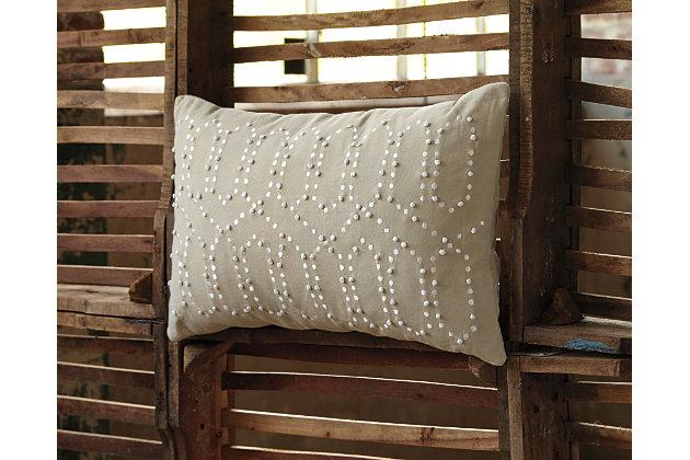 Tan Simsboro Pillow by Ashley HomeStore, Cotton (100 %)