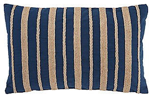 Zackery Pillow, Blue, large