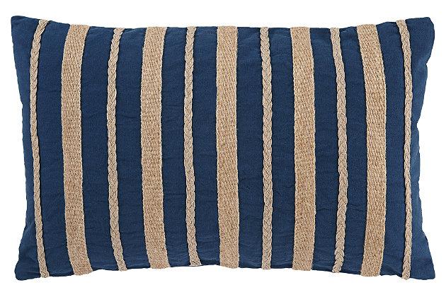Zackery Pillow, Blue, large