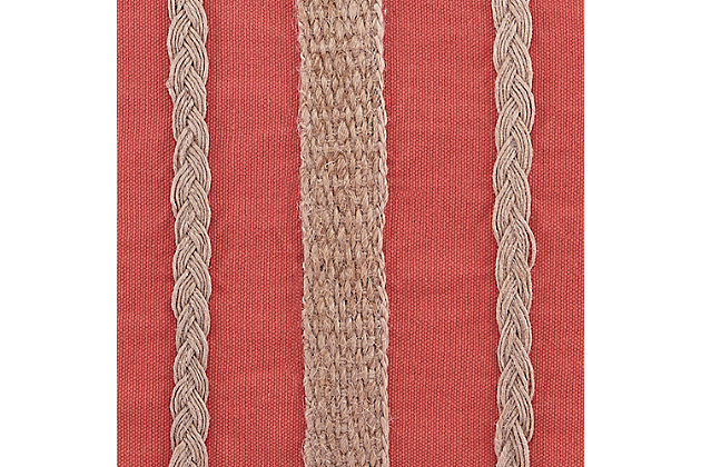 Zackery Pillow, Coral, large