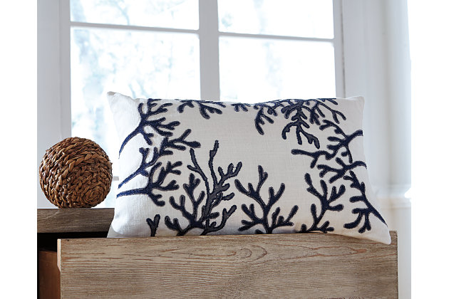 Blue Cankton Pillow by Ashley HomeStore, Cotton (100 %)
