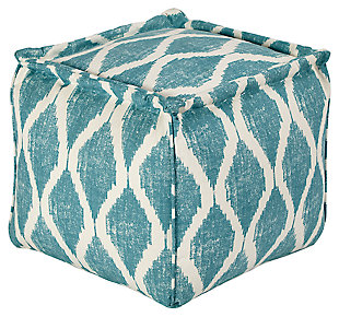 Bruce Pouf, Teal/White, large