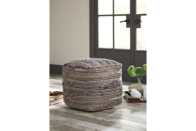 Absalom Pouf by Ashley HomeStore, Tan