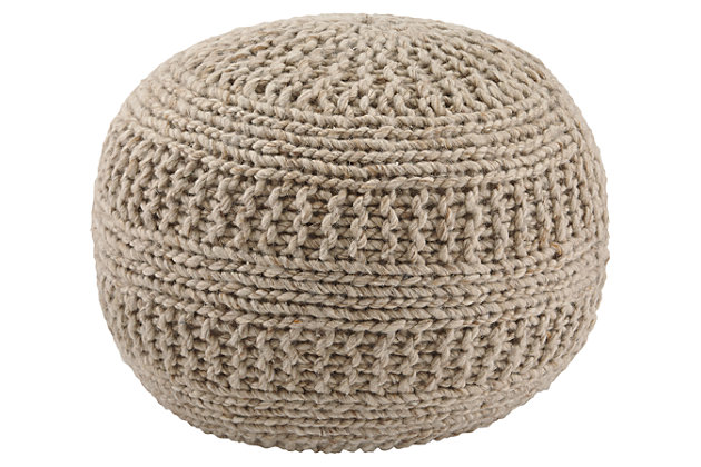 Benedict Pouf by Ashley HomeStore, Tan