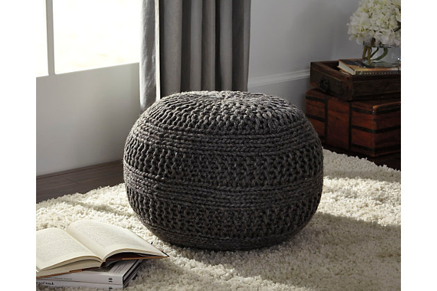 Benedict Pouf by Ashley HomeStore, Gray