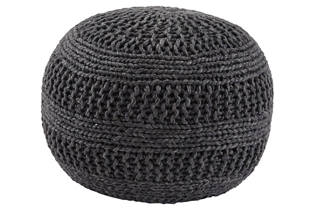 Gray Benedict Pouf by Ashley HomeStore