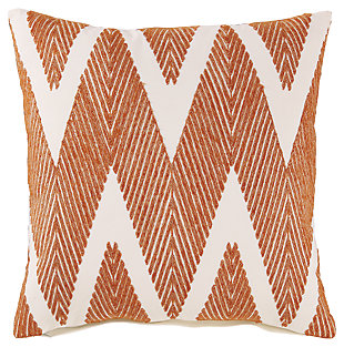 Carlina Pillow, Orange, large