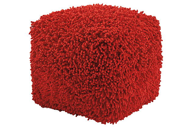 Taisce Pouf by Ashley HomeStore, Red