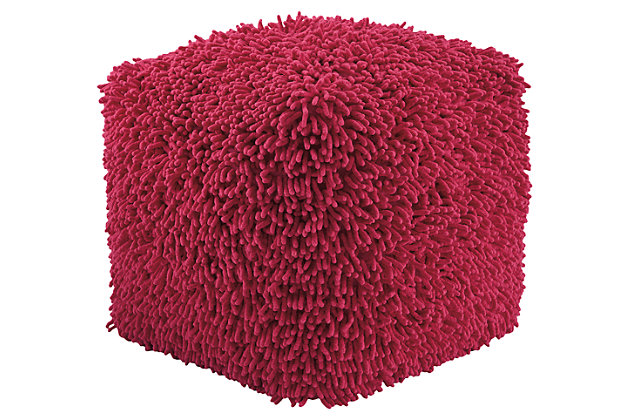 Taisce Pouf by Ashley HomeStore, Pink