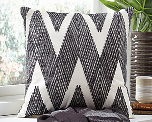 Carlina Pillow, Black, rollover
