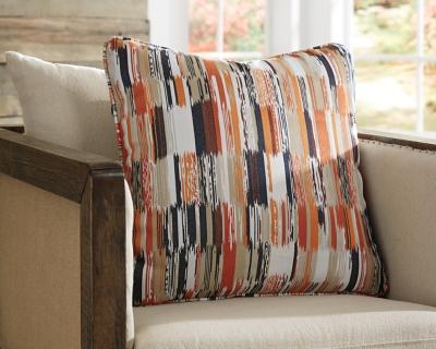 Jadran Pillow, Orange/Brown, large