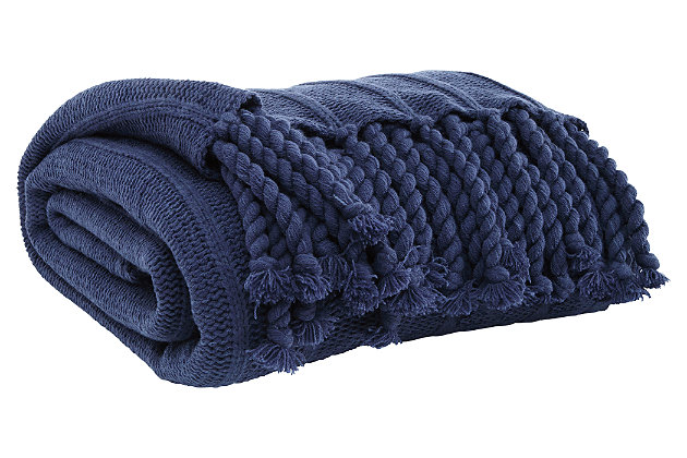 Clarence Throw, Navy, large