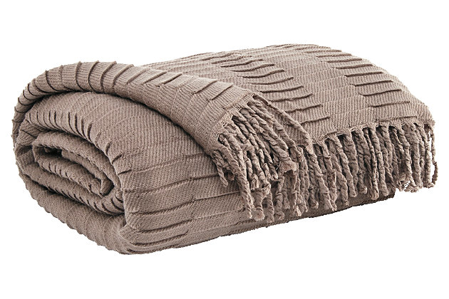 Mendez Throw, Taupe, large