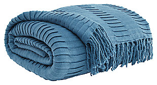 Mendez Throw, Blue, large