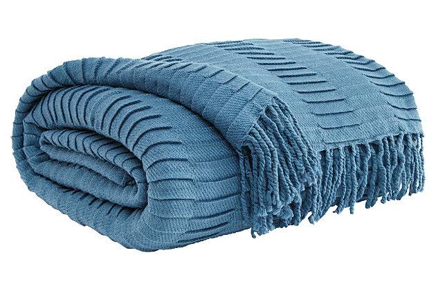 Mendez Throw by Ashley HomeStore, Blue, Acrylic (100 %)