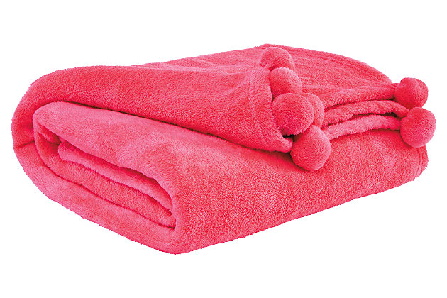 Aniol Throw by Ashley HomeStore, Pink, Polyester (100 %)