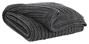 Zaid Throw, Charcoal, large