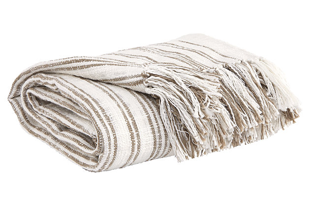 Callumn Throw, Beige, large