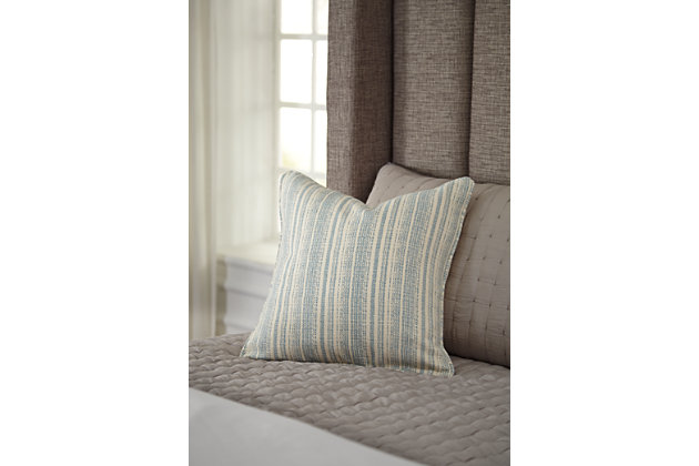 DeRidder Pillow and Insert by Ashley HomeStore, Turquoise
