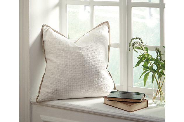 Dagger Pillow and Insert by Ashley HomeStore, White