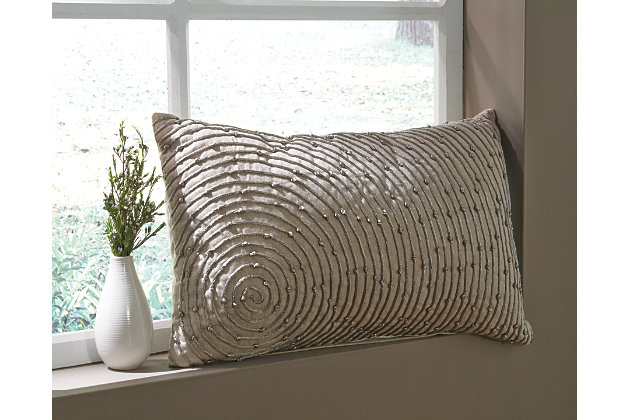 Tan Solon Pillow by Ashley HomeStore, Cotton (100 %)