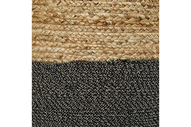 Sweed Valley Pouf, Natural/Black, large