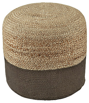 Sweed Valley Pouf, Natural/Charcoal, large