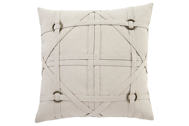 Leonard Pillow and Insert by Ashley HomeStore, Tan