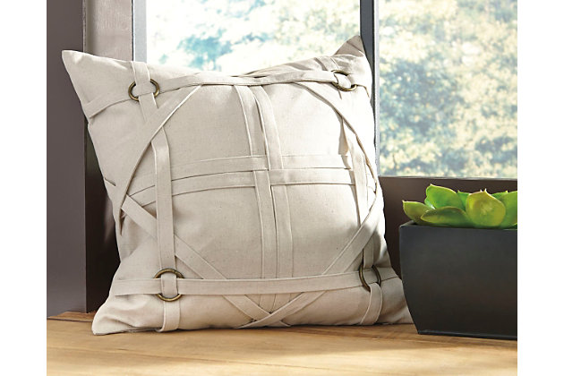 Tan Leonard Pillow and Insert by Ashley HomeStore