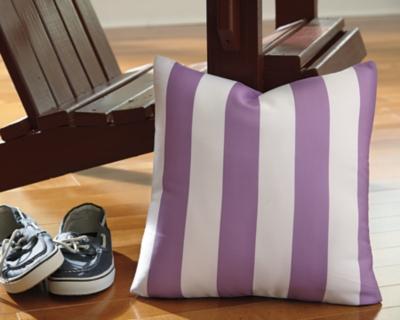 Hutto Pillow by Ashley HomeStore, White/Lavender