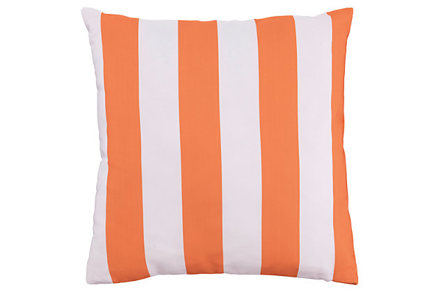Hutto Pillow by Ashley HomeStore, Orange & White, Polyester (100 %)