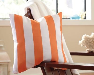 Hutto Pillow by Ashley HomeStore, Orange/White