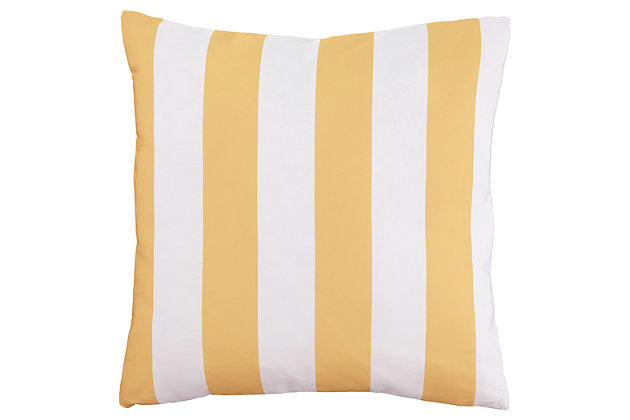 Hutto Pillow by Ashley HomeStore, Yellow & White, Polyester (100 %)