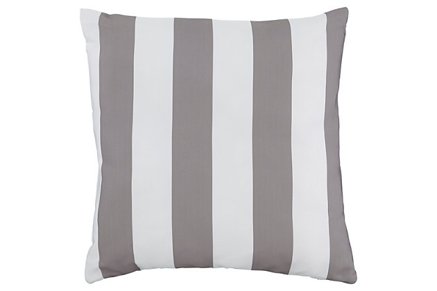 Hutto Pillow by Ashley HomeStore, Gray & White, Polyester (100 %)