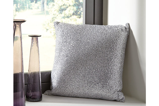 Silver Renegade Pillow by Ashley HomeStore, Polyester (100 %)