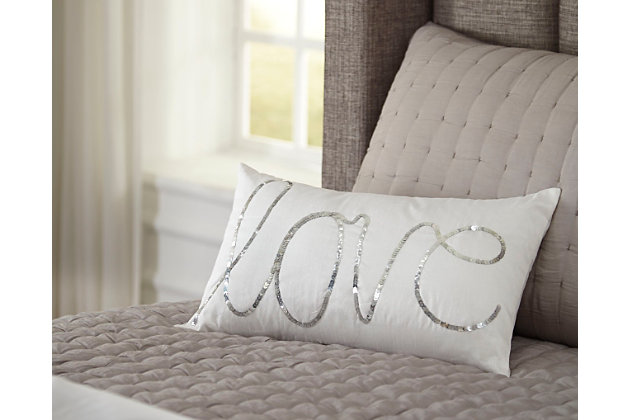 White Newry Pillow by Ashley HomeStore, Polyester (100 %)