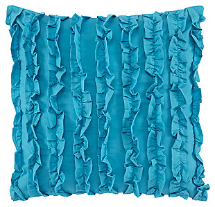 Ruffin Pillow, Turquoise, large