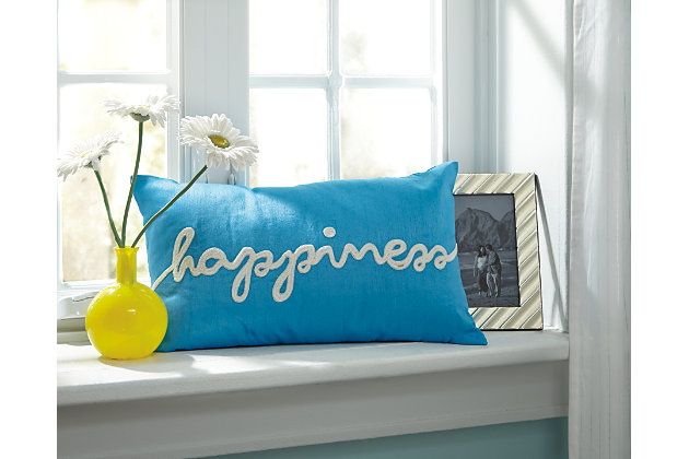 Turquoise Lakelyn Pillow by Ashley HomeStore, Polyester (100 %)