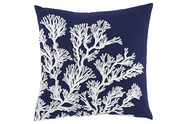 Aguirre Pillow and Insert by Ashley HomeStore, Navy