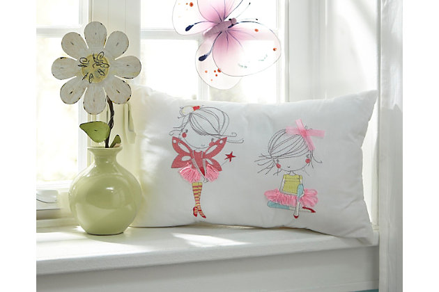 White Mariaville Pillow by Ashley HomeStore, Cotton (100 %)