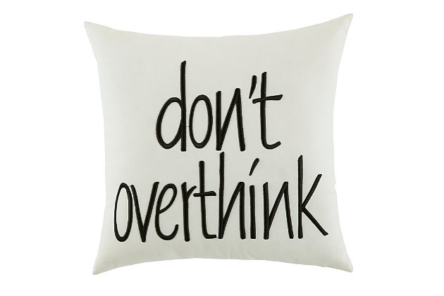 Don't Overthink Pillow, , large