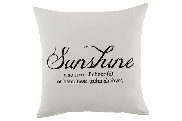 Sunshine Pillow, , large