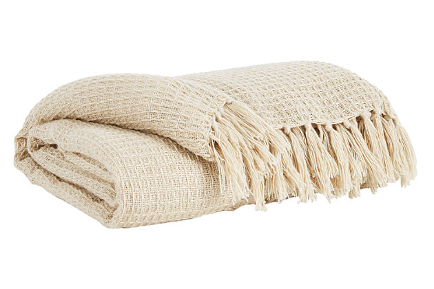Rowena Throw, Cream, large