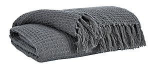 Rowena Throw, Gray, large